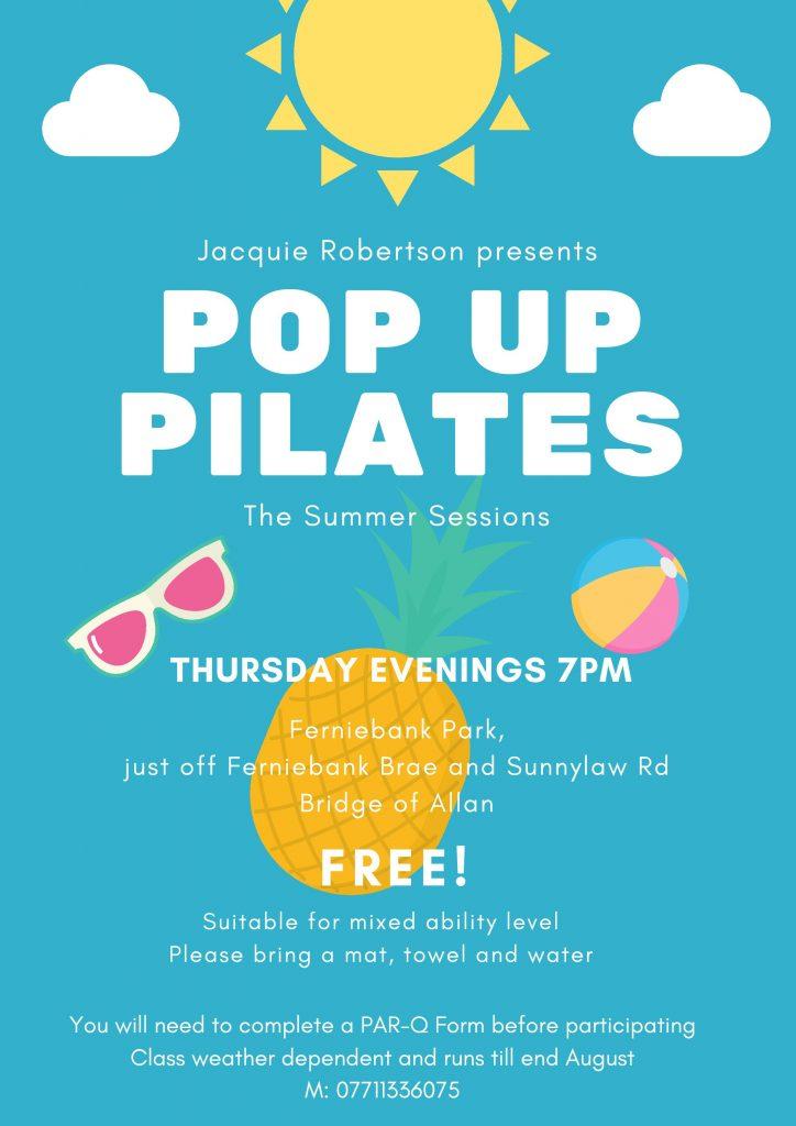 Pop Up Pilates Classes Stirling